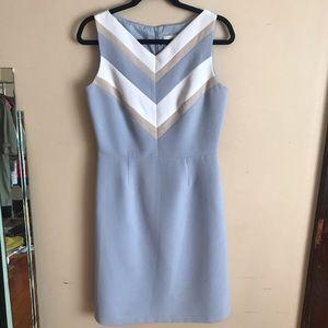 Bahari Group | Size 8. Light Blue Chevron Dress